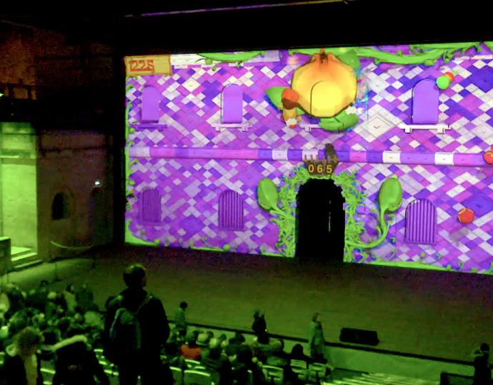 Un jeu vidéo BRASSART projeté sur des façades de monuments !