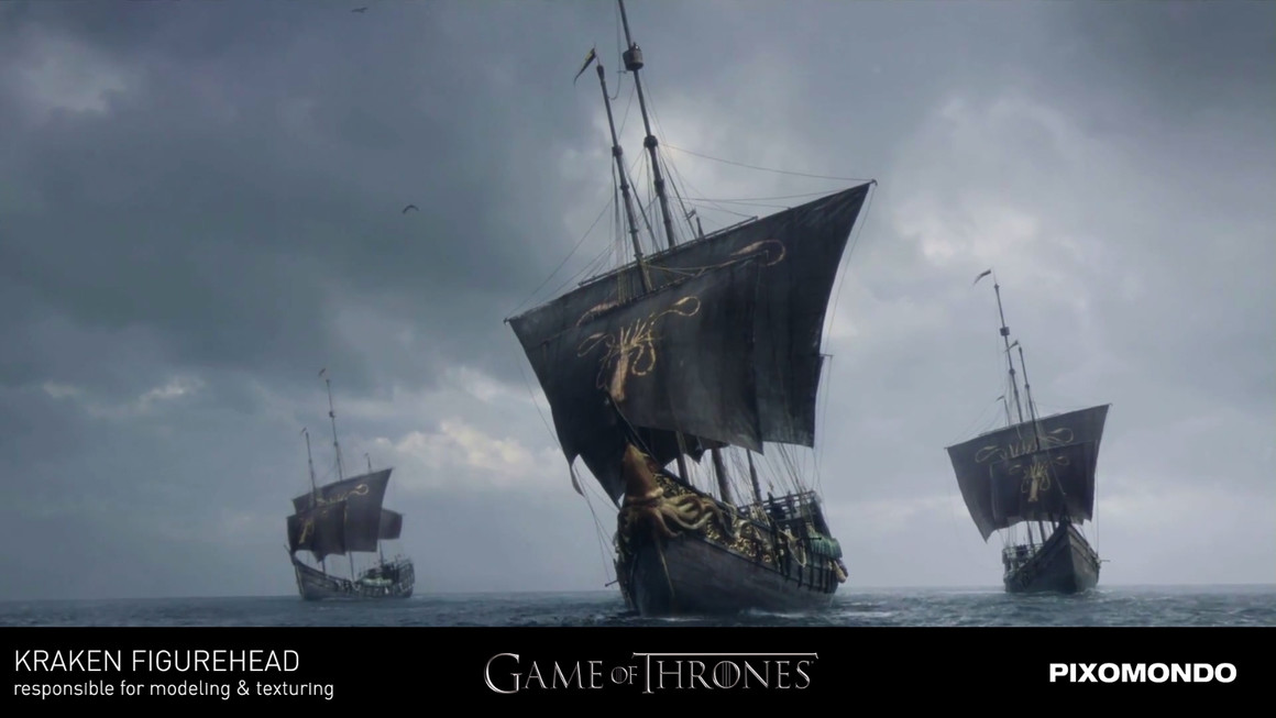 Kraken figurehead - Game of Thrones - Pixomondo