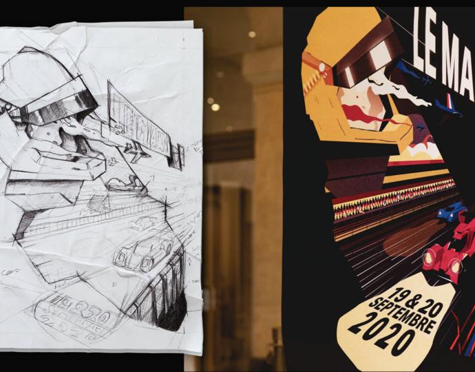 """Concours d'illustration - Un étudiant BRASSART lauréat des """"24 Heures du Mans s'affichent"""""""