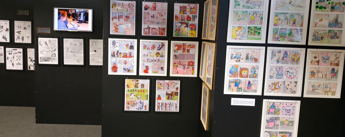 Etudiants de la formation bande dessinée de Brassart au festival Faites des Bulles