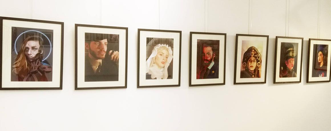 Autoportraits des étudiants de l'école d'art et de design Brassart Tours