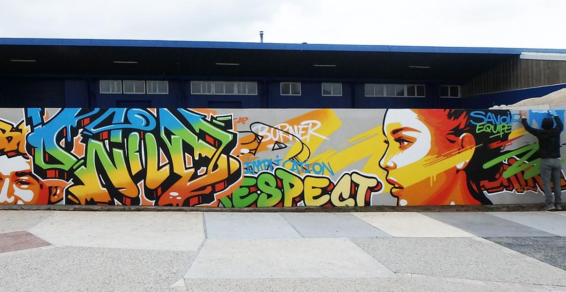 Illustration street art de Kevin Le Gall, ancien étudiant Brassart Tours