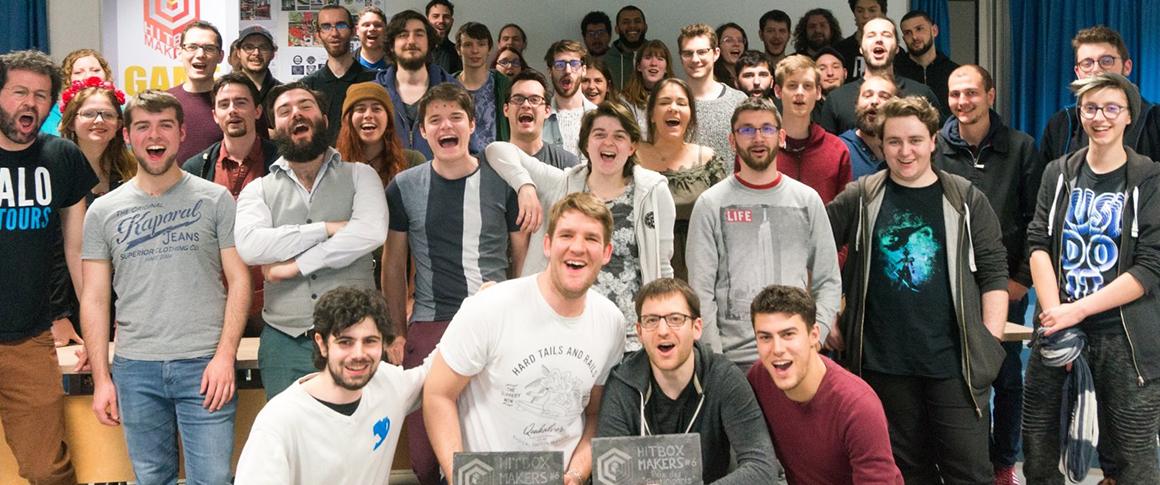 participants à la Game Jam 2019 sur le campus de l'école de jeux vidéo Brassart