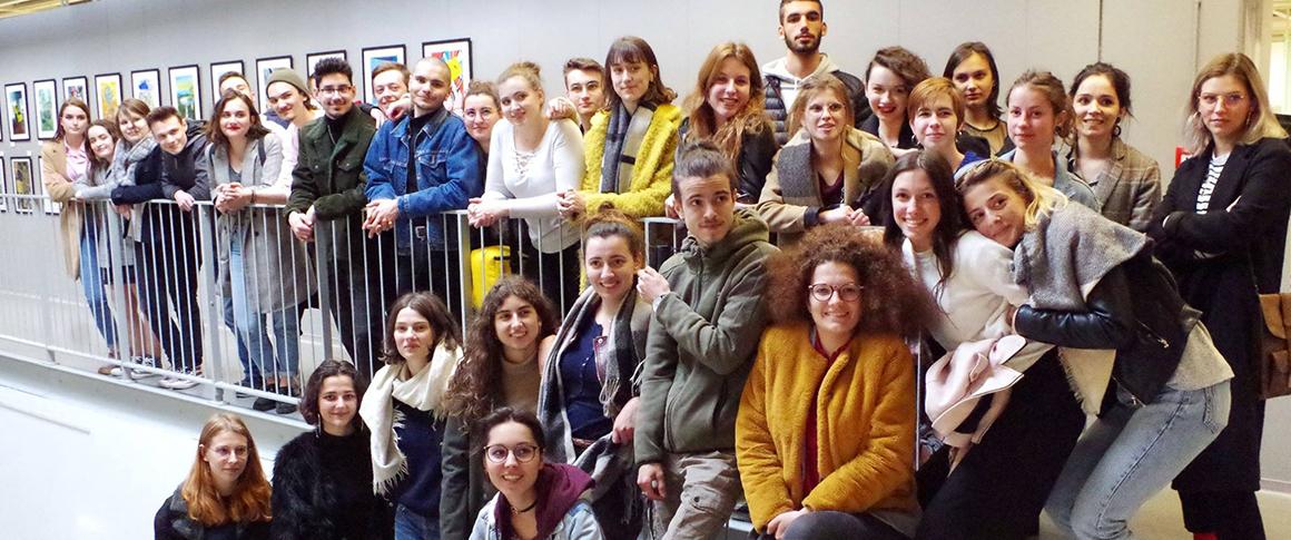exposition des étudiants en design graphique à Ikea Tours