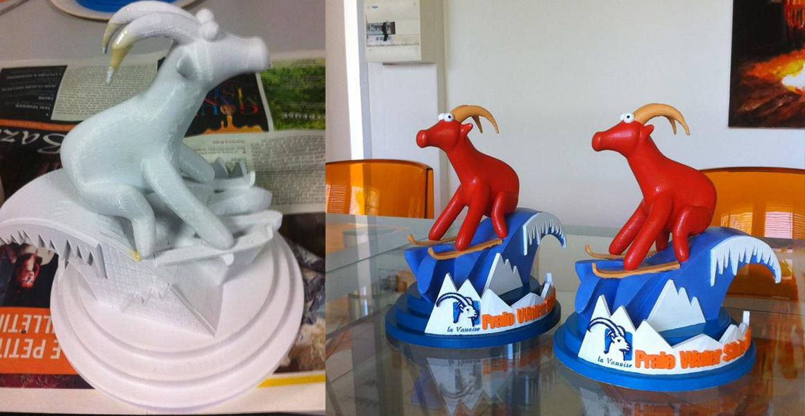 modélisation 3D d'un trophée par des étudiants de l'école d'animation 3D Brassart