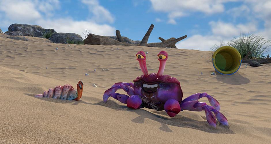 projet école cinéma d'animation 3d & vfx : Sauté de crabe