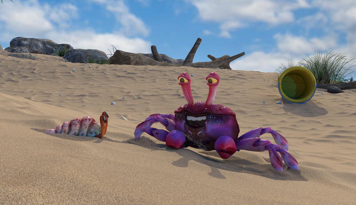 Sauté de crabe : projet bachelor animation - 3d vfx & jeux vidéo / game art