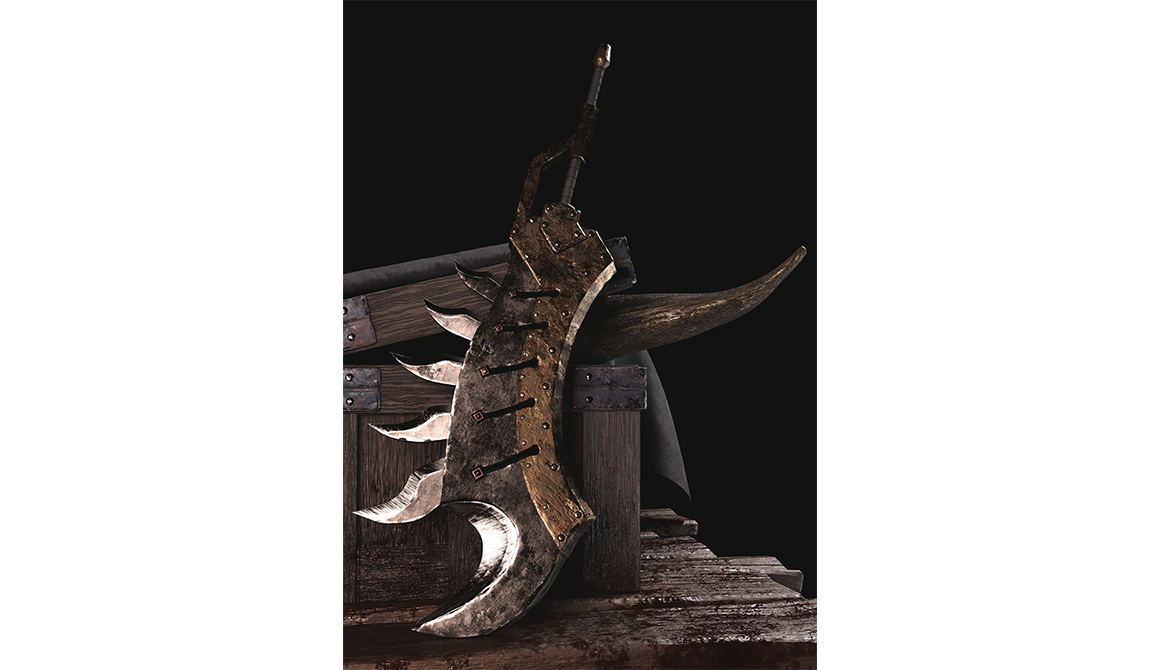 Epée thème Monster Hunter : projet bachelor animation - 3d vfx & jeux vidéo / game art