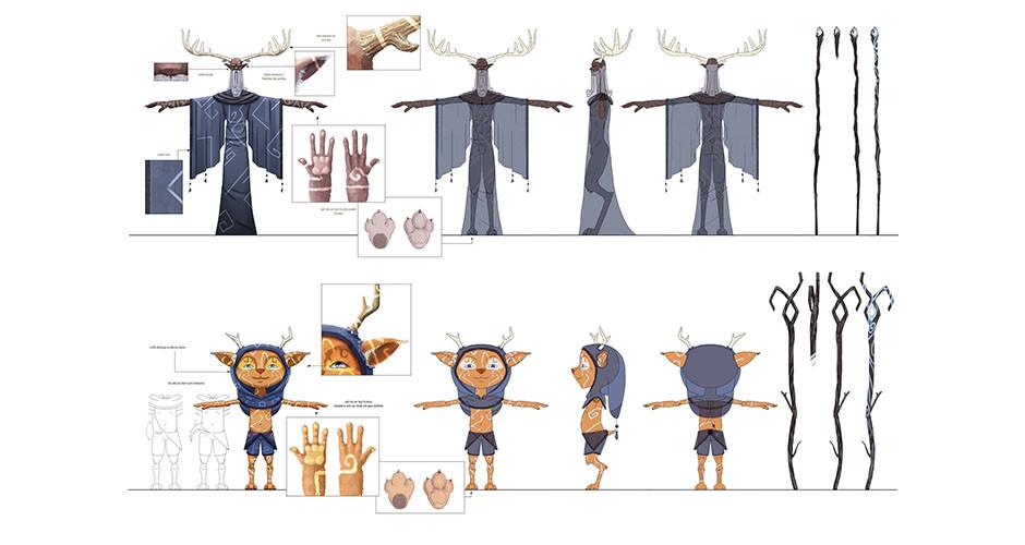 projet école animation 3d et vfx : Model Sheet