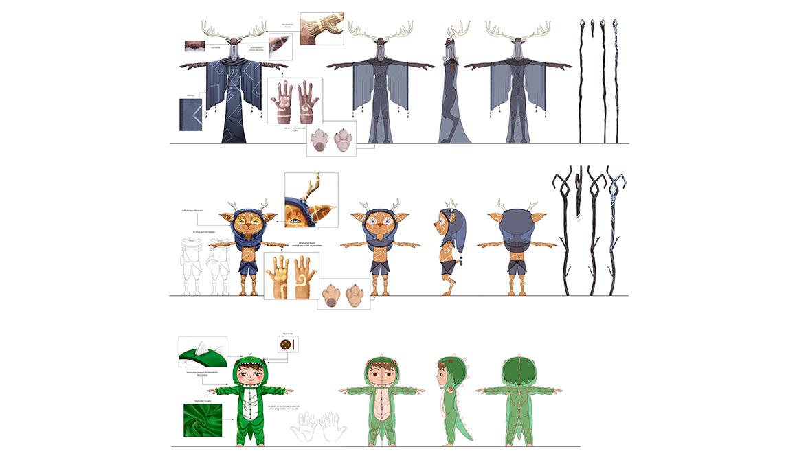 Model Sheet : projet bachelor animation - 3d vfx & jeux vidéo / game art