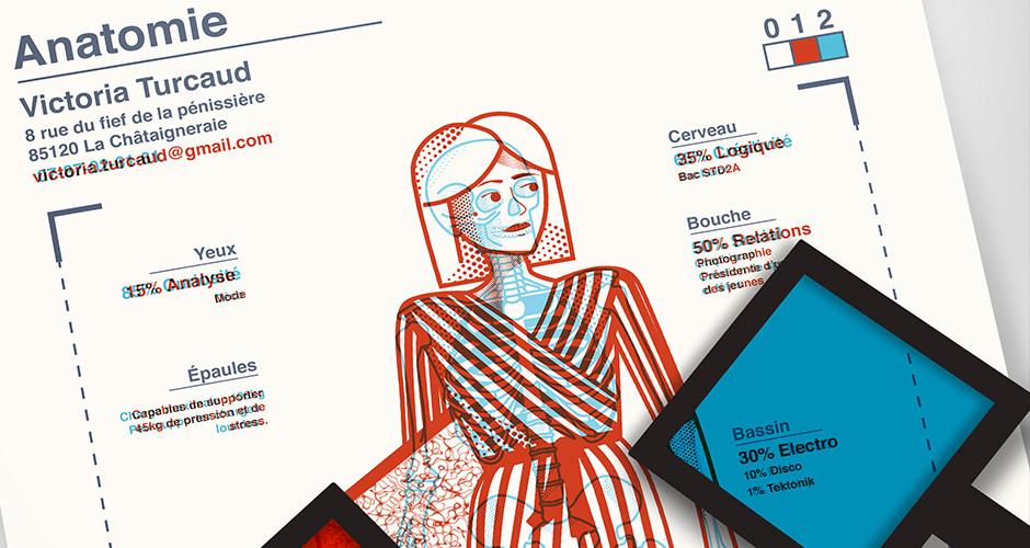 projet école design graphique et digital : Anatomie