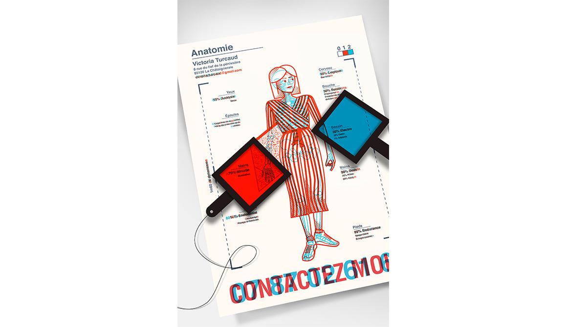 Anatomie : projet bachelor design graphique et multimédia