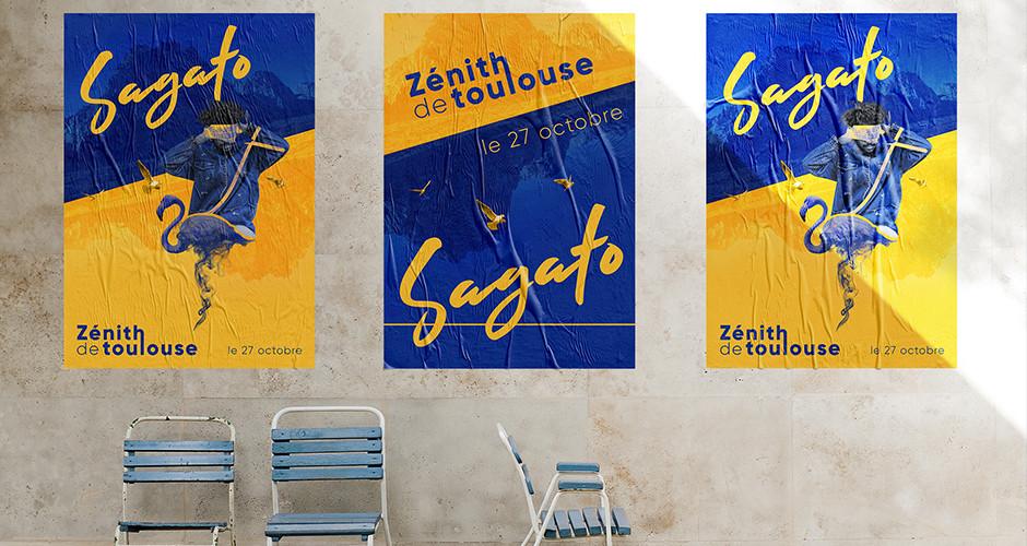 projet école design graphique et digital : Sagato