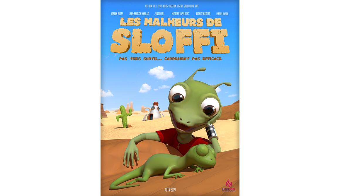 Les Malheurs de Sloffi : projet bachelor animation - 3d vfx & jeux vidéo / game art