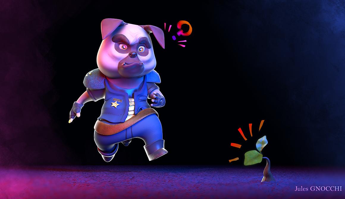 Doggy Cop : projet bachelor animation - 3d vfx & jeux vidéo / game art