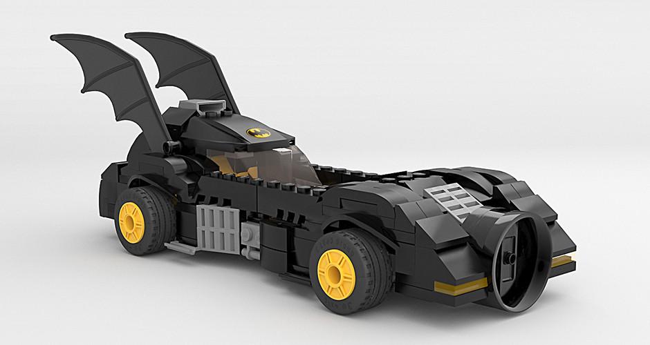 projet école animation 3d et vfx : Batmobile Lego