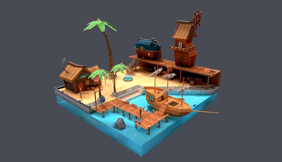 Port du Pêcheur : projet bachelor animation - 3d vfx & jeux vidéo / game art