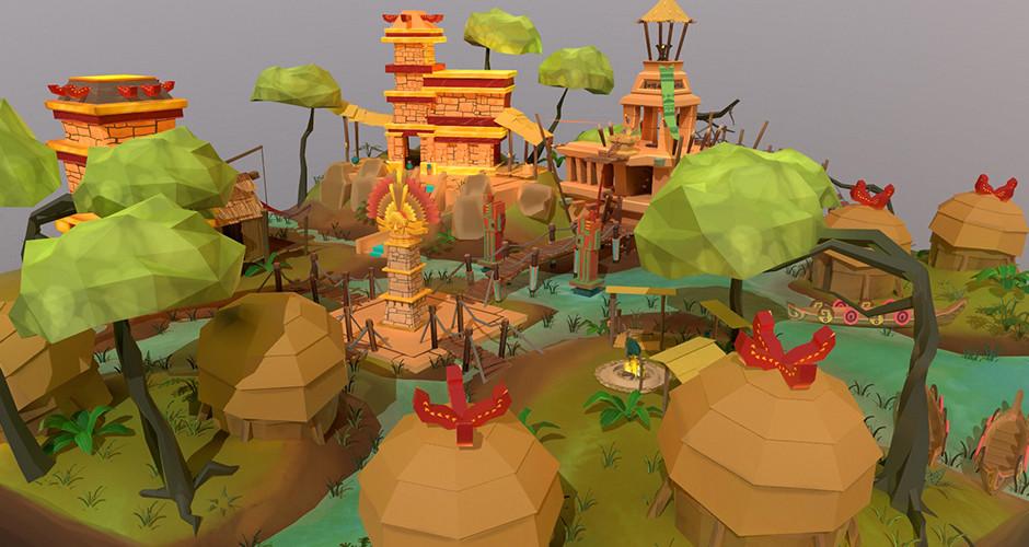 projet école jeux vidéo : Environnement incas