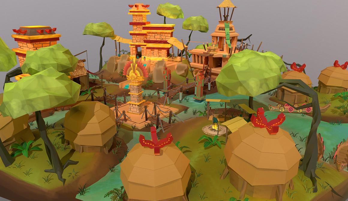 Environnement incas : projet bachelor animation - 3d vfx & jeux vidéo / game art
