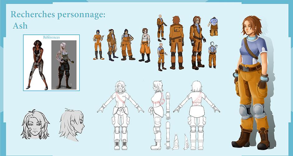 projet école jeux vidéo : Crystal Corp - Personnage