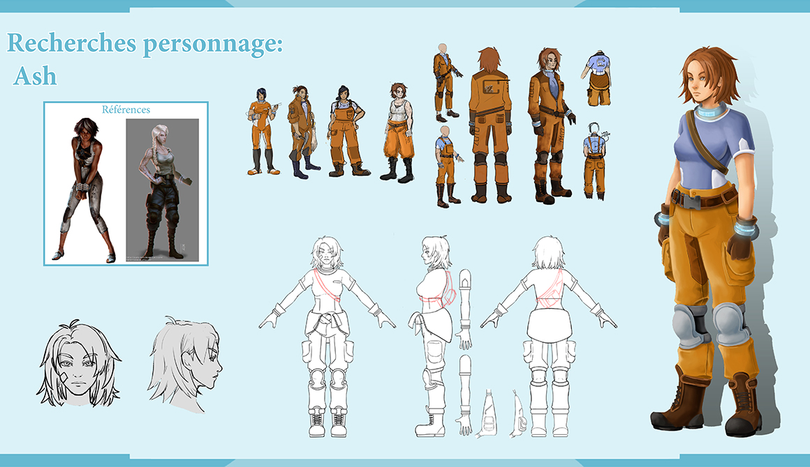 Crystal Corp - Personnage : projet bachelor animation - 3d vfx & jeux vidéo / game art