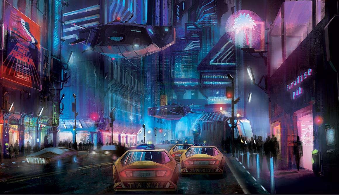 Ville futuriste : projet bachelor spécialisation concept art