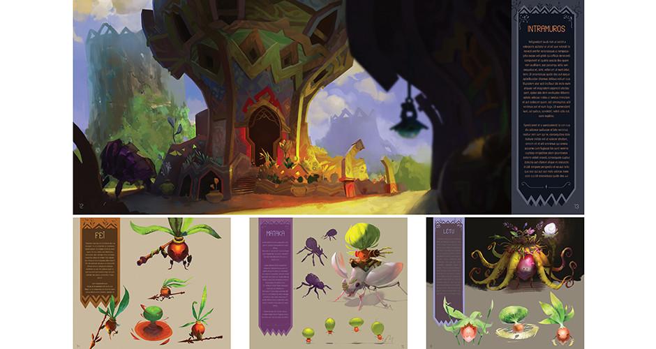 projet école arts graphiques illustration : Ville végétale et ses habitants