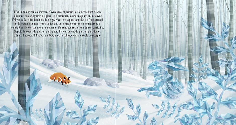 projet école arts graphiques illustration : Au cœur de l'hiver