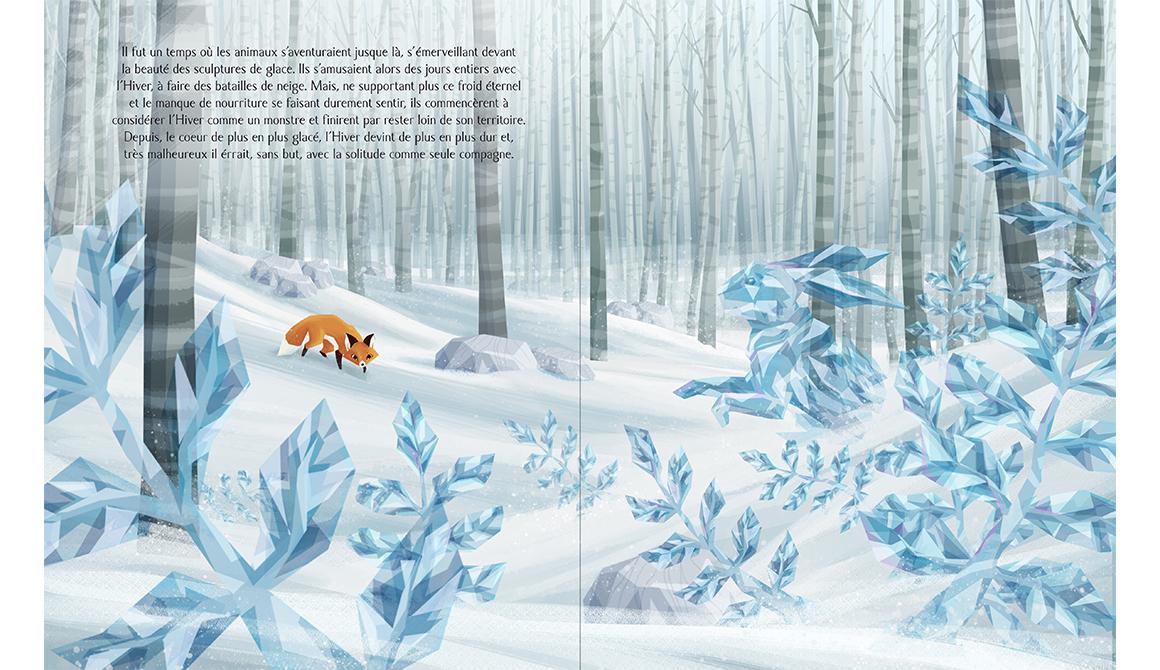 Au cœur de l'hiver : projet bachelor spécialisation illustration / bd