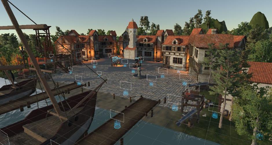 projet école jeux vidéo : Port de pirate