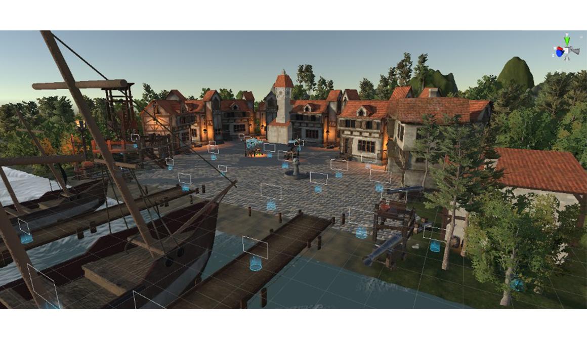 Port de pirate : projet bachelor animation - 3d vfx & jeux vidéo / game art