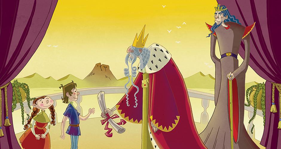projet école arts graphiques illustration : Le Parchemin du roi