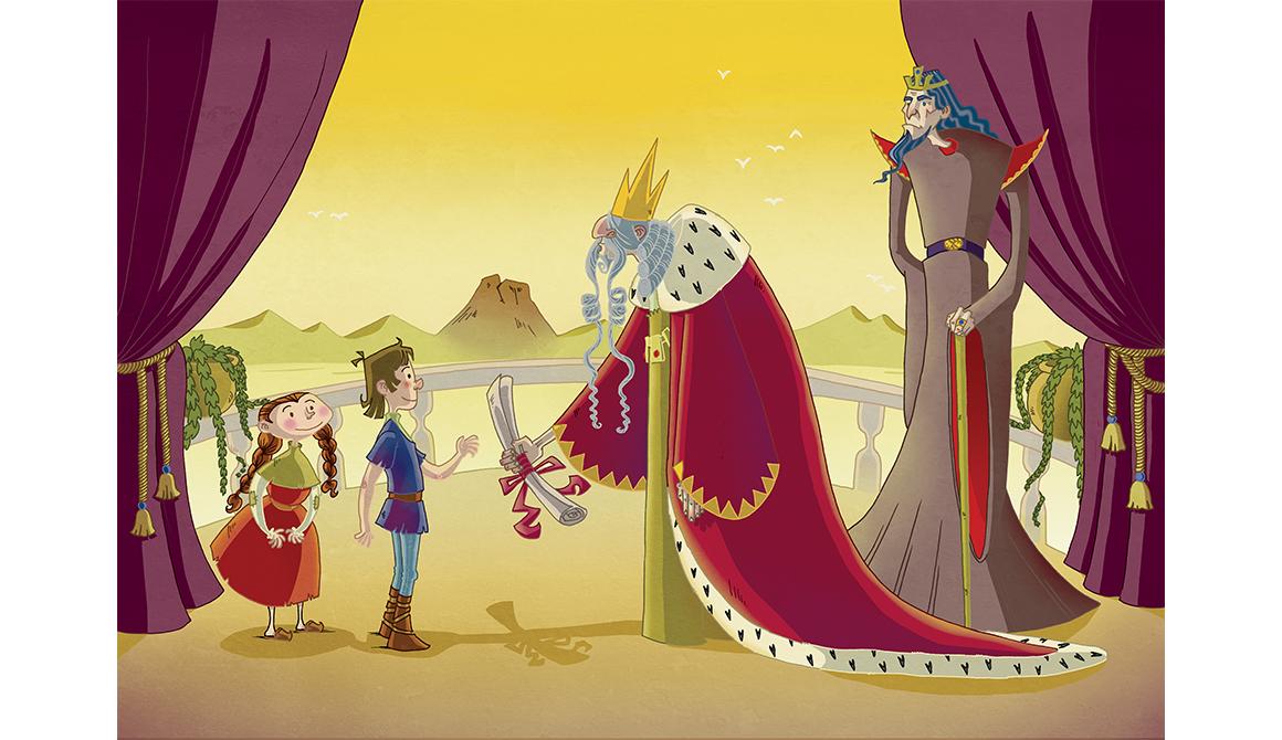 Le Parchemin du roi : projet bachelor spécialisation illustration / bd