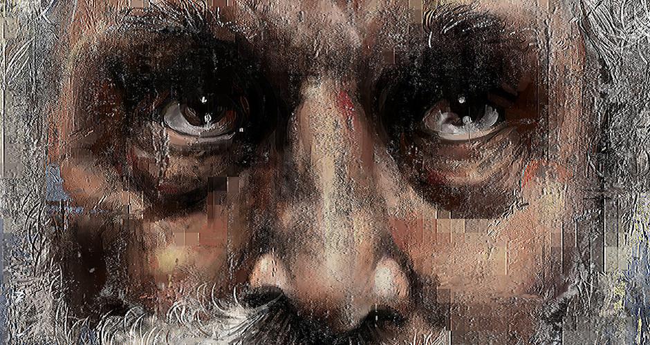 projet école arts graphiques illustration : Portrait du vieil homme