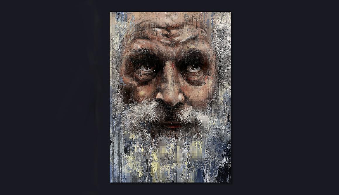 Portrait du vieil homme : projet programme arts graphiques illustration - bachelor spécialisation illustration / bd