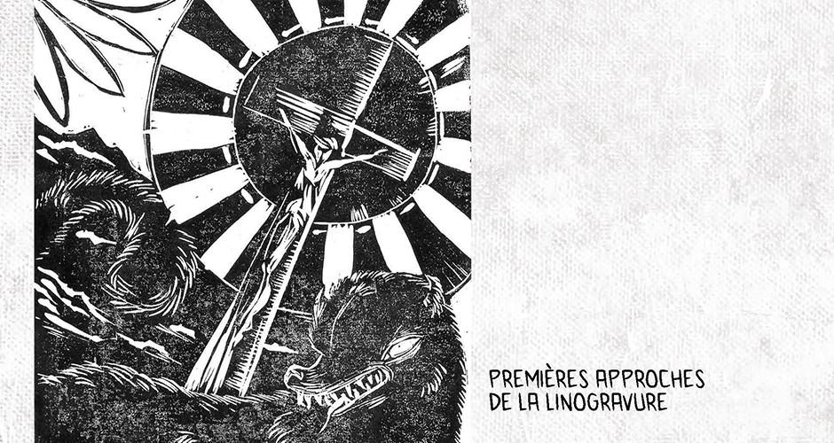 projet école arts graphiques illustration : Malbete - Linogravure