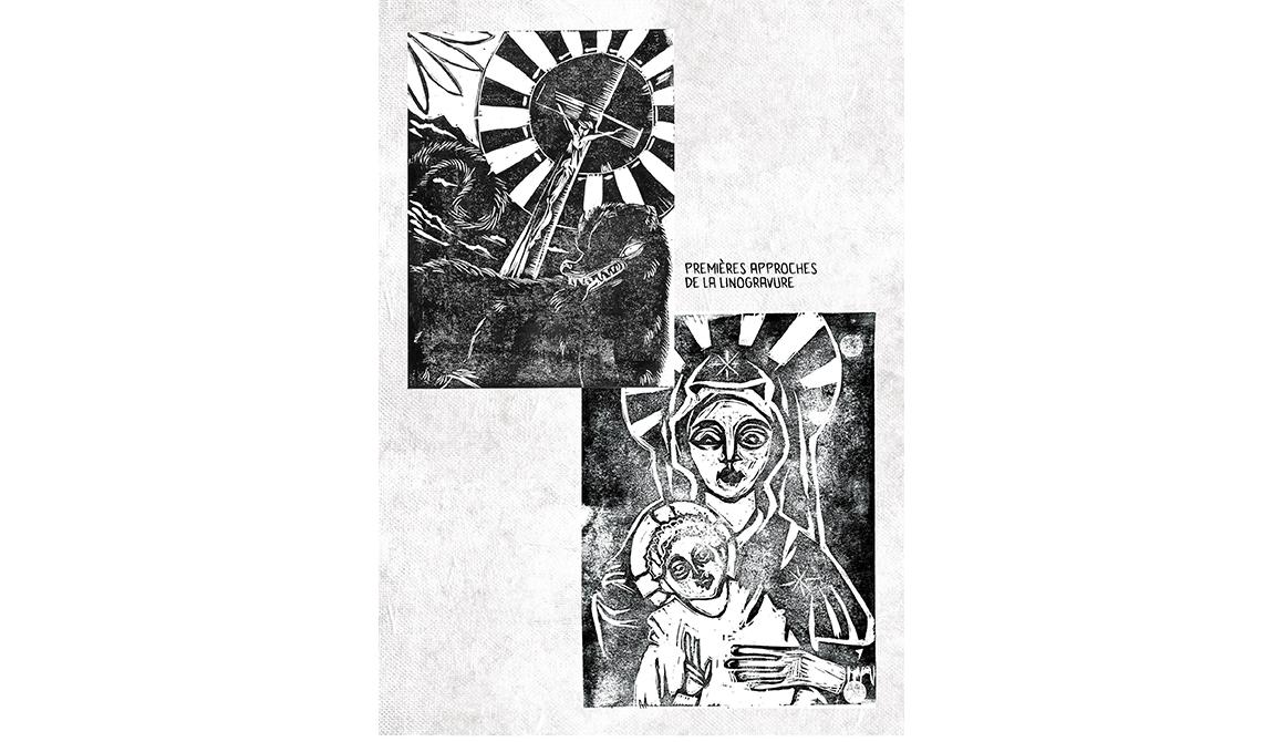 Malbete - Linogravure : projet bachelor spécialisation concept art