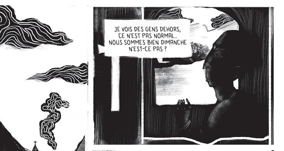 projet école arts graphiques illustration : Planche en NB