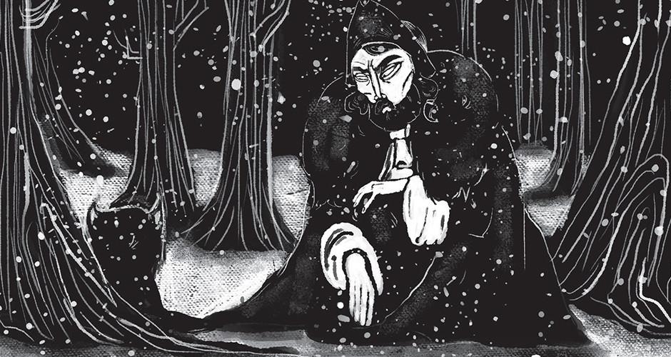 projet école arts graphiques illustration : Jean et la louve