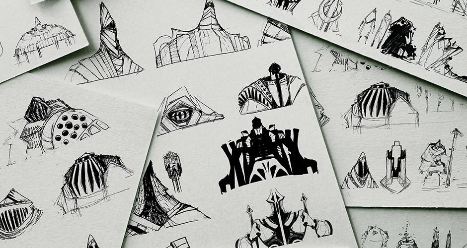 projet école arts graphiques illustration : Armures et ornements