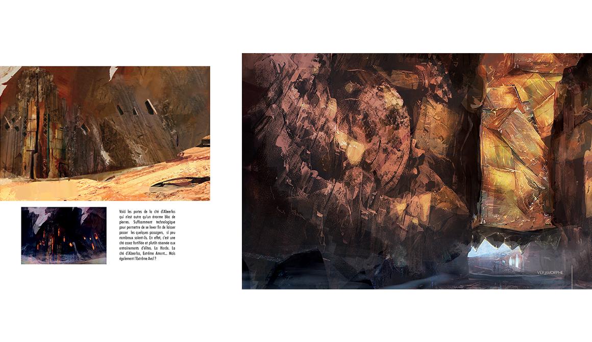 Cité d'Abeerlas : projet programme arts graphiques illustration - bachelor spécialisation concept art