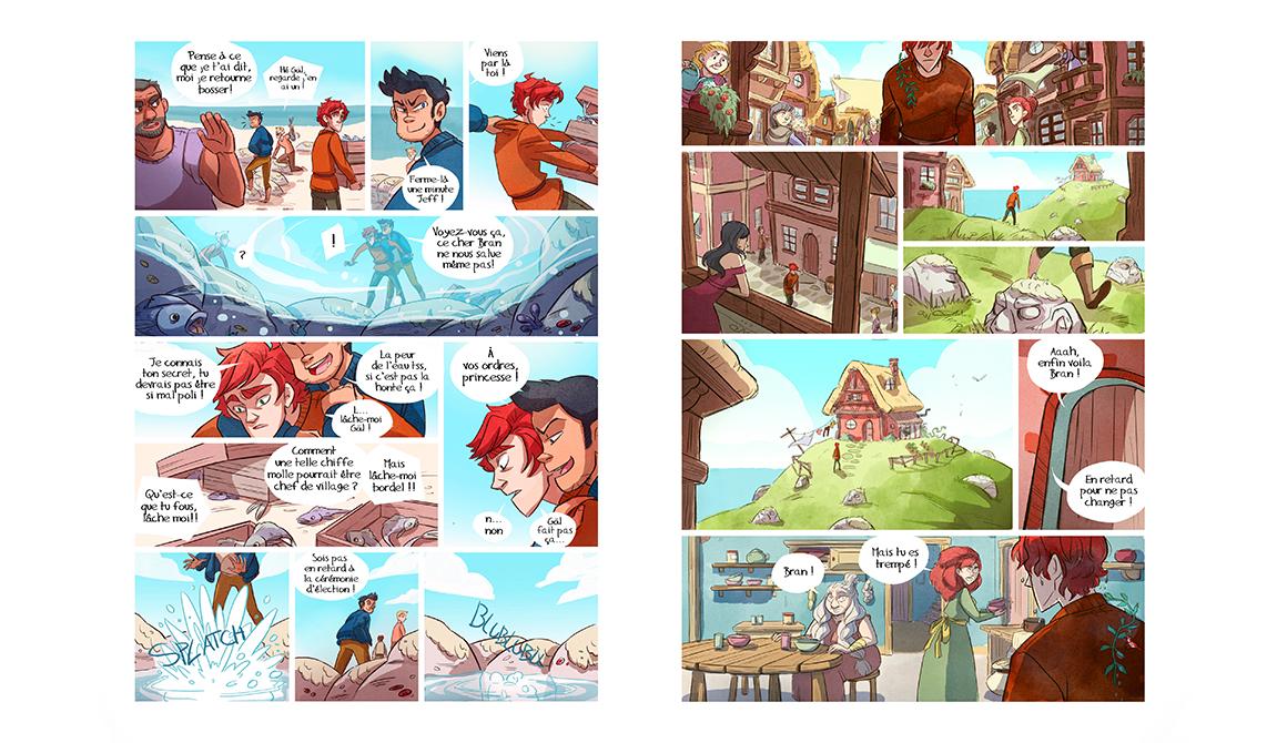 Le cœur de Talam : projet bachelor auteur / dessinateur de bande dessinée