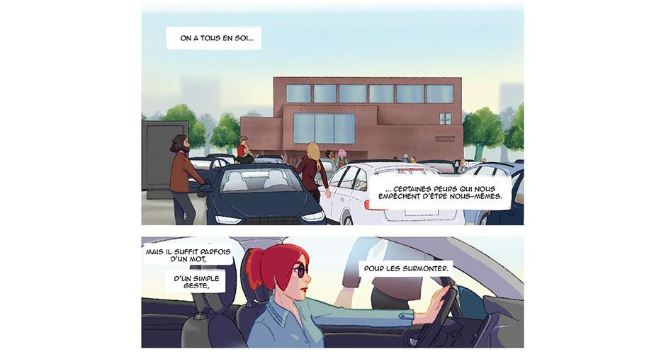 projet école bande dessinée : Améthyste - Planche 1