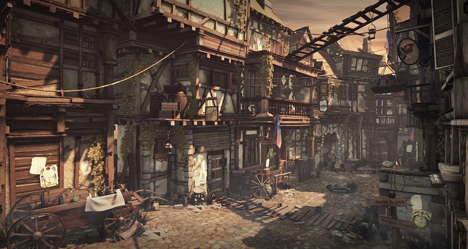 projet école jeux vidéo : Paris slum street - French Revolution