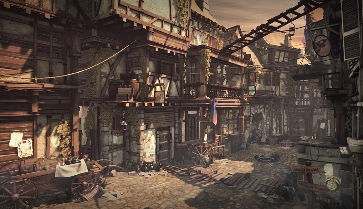 Paris slum street - French Revolution : projet bachelor animation - 3d vfx & jeux vidéo / game art