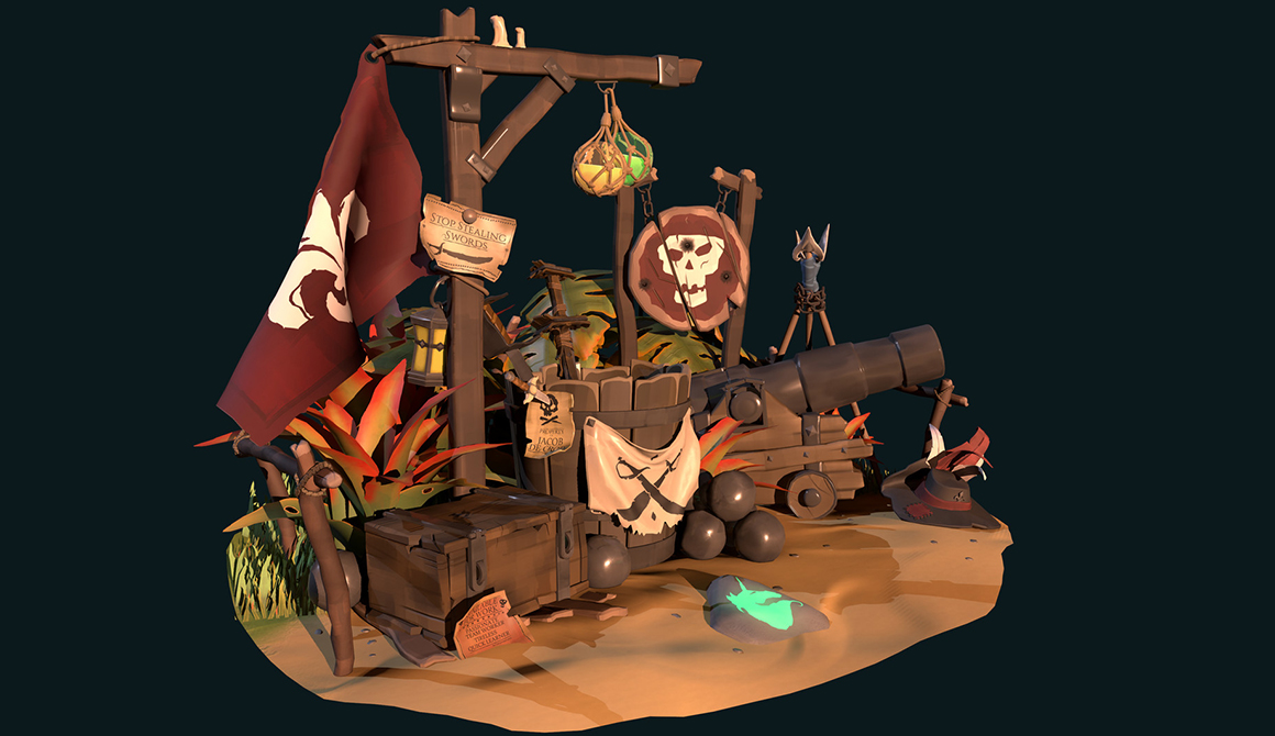 Pirate universe : projet bachelor animation - 3d vfx & jeux vidéo / game art