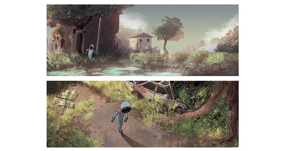 projet école bande dessinée : Angoulême - Le scaphandre