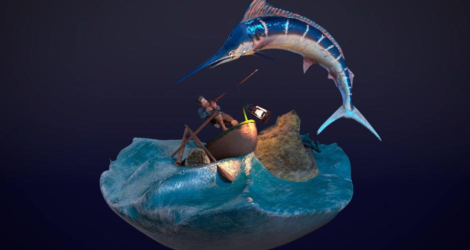 projet école animation 3d et vfx : Hunt Diorama