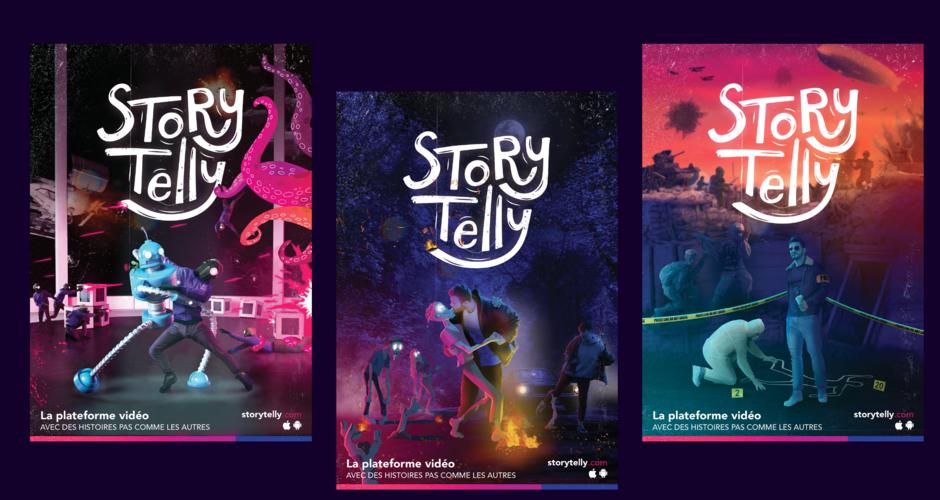 projet école design graphique et digital : StoryTelly