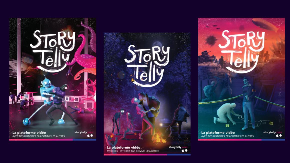 StoryTelly : projet bachelor design graphique et digital
